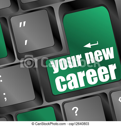 Wording your new career on computer keyboard - csp12640803