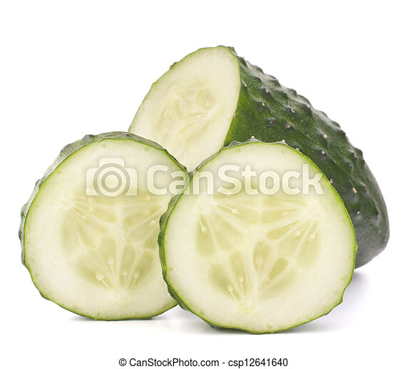 Sliced cucumber vegetable - csp12641640