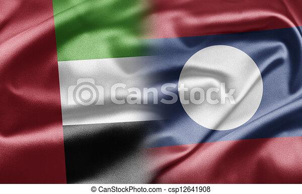 United Arab Emirates and Laos - csp12641908