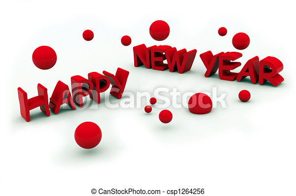 happy new year\'s eve tex - csp1264256