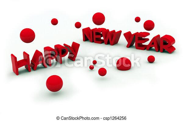 happy new year\'s eve tex - csp1264256