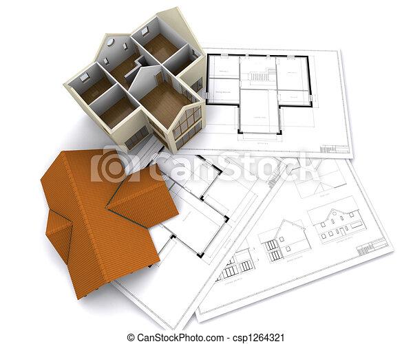 Contemporary house - csp1264321