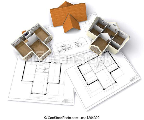 Contemporary house - csp1264322