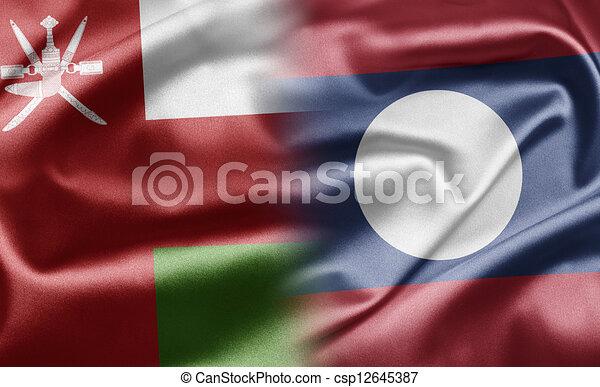 Oman and Laos - csp12645387