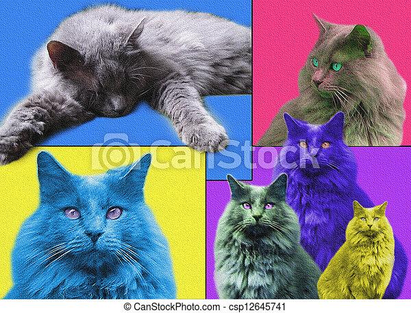 POPart Cats - csp12645741