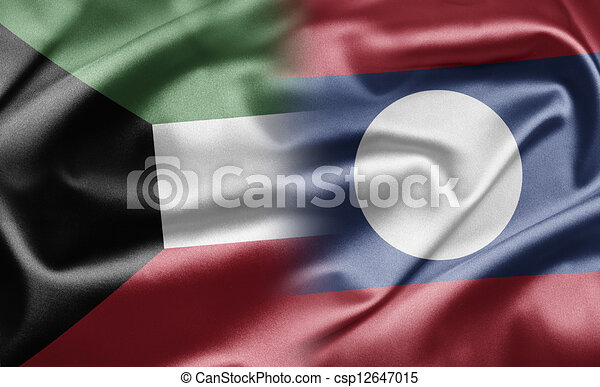 Kuwait and Laos - csp12647015