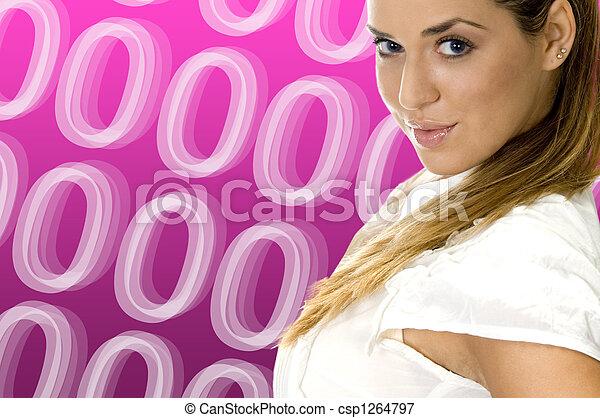 magnífico, rubio, mujeres - csp1264797