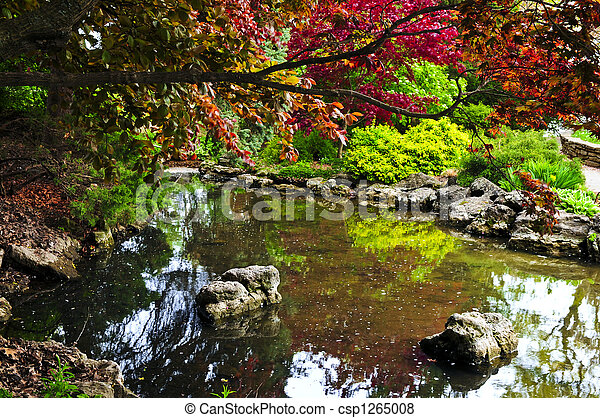 Pond in zen garden - csp1265008
