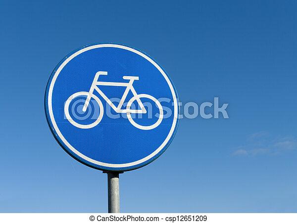 車線, 自転車, 印 - csp12651209