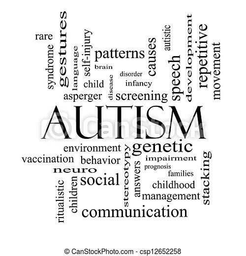 Stock Illustraties Van Autisme Woord Wolk Concept