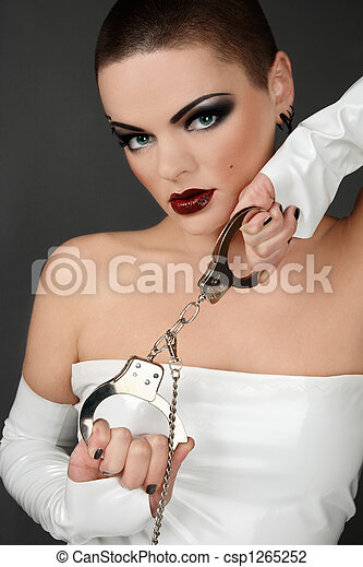 Girl with cuffs - csp1265252