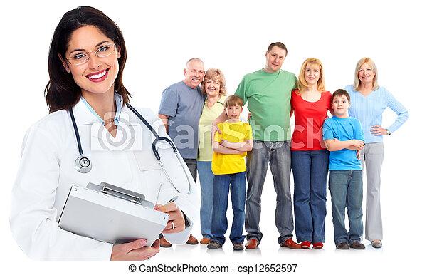 mulher, saúde, cuidado, família, doutor - csp12652597