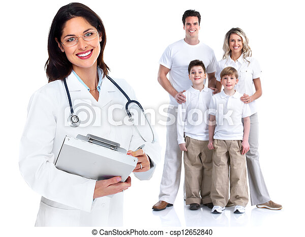Family doctor woman. Health care. - csp12652840