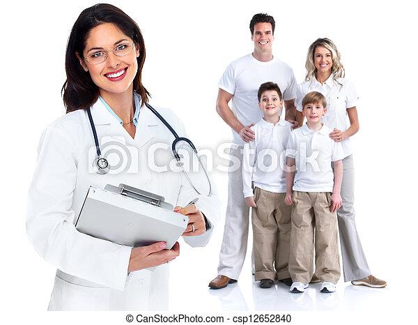 mulher, saúde, cuidado, família, doutor - csp12652840