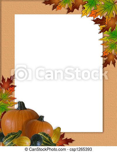 zeichnungen von herbst rahmen erntedank herbst bild und abbildung csp1265393 suchen. Black Bedroom Furniture Sets. Home Design Ideas