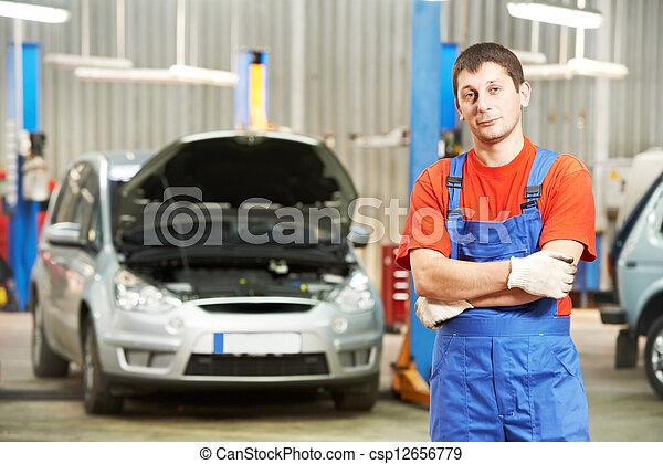 库存照片-修理工, 汽车, 技工, 检查员