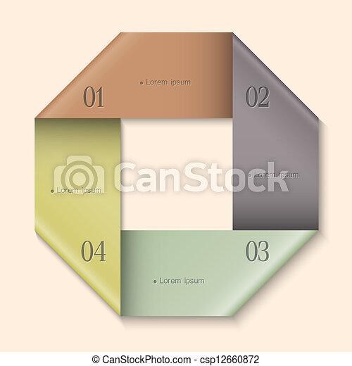 Modern Design template for infographics - csp12660872
