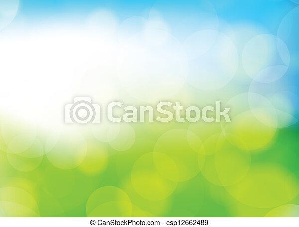 背景, 蓝色, 绿色, 颜色, 春天, 描述