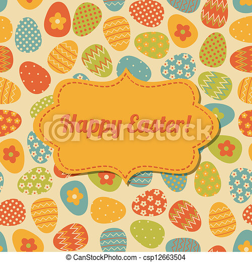 Easter Greeting Card Design - csp12663504