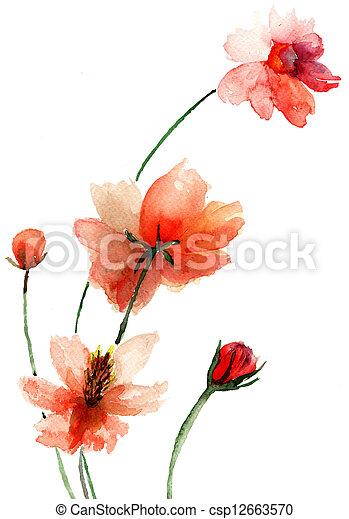 Beautiful flowers - csp12663570