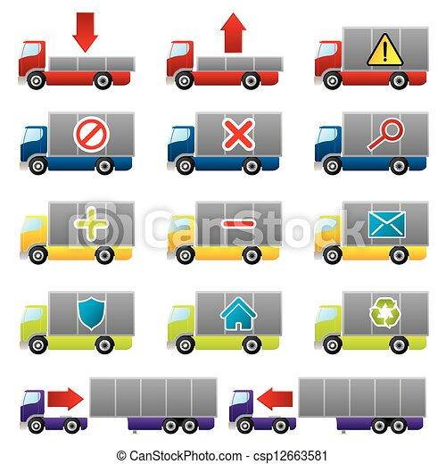 Vector cami n iconos tela stock de ilustracion ilustracion libre de stock de iconos de for Como buscar distribuidores