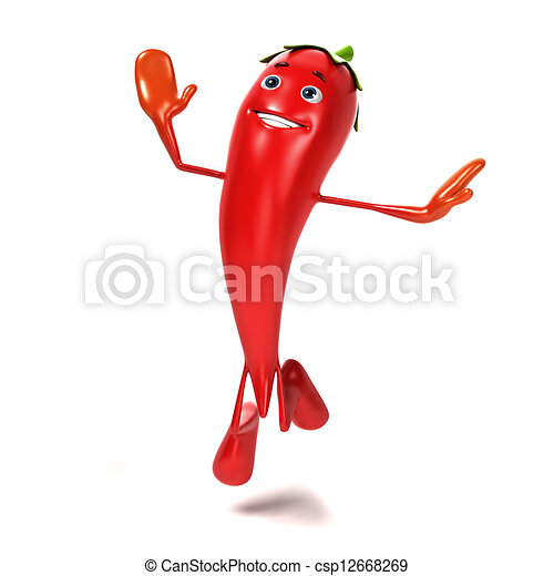 Food character - chili - csp12668269