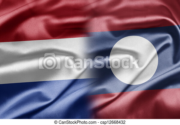 Netherlands and Laos - csp12668432