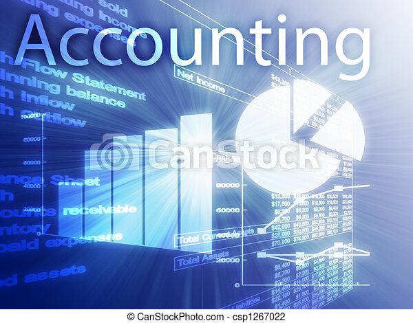 contabilidade, Ilustração - csp1267022