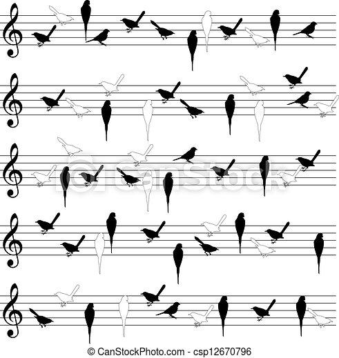 Bird notation lines - csp12670796
