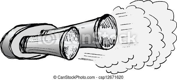 Vektor Illustration Von Pfeife Auto Auspuff Abbildung