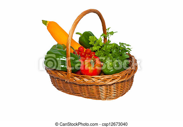basket of vegetables from the garden - csp12673040