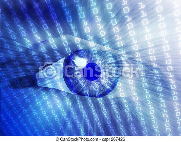 Electronic eye illustration - csp1267426