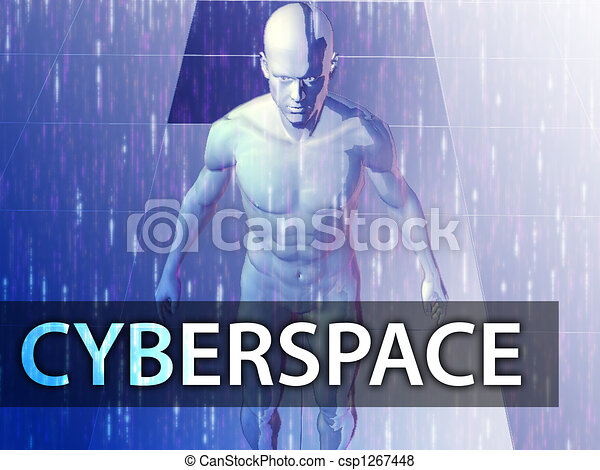 Cyberspace illustration - csp1267448
