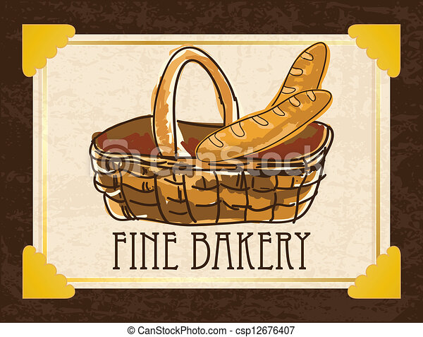 French Pastry Drawing Bakery Icons Csp12676407