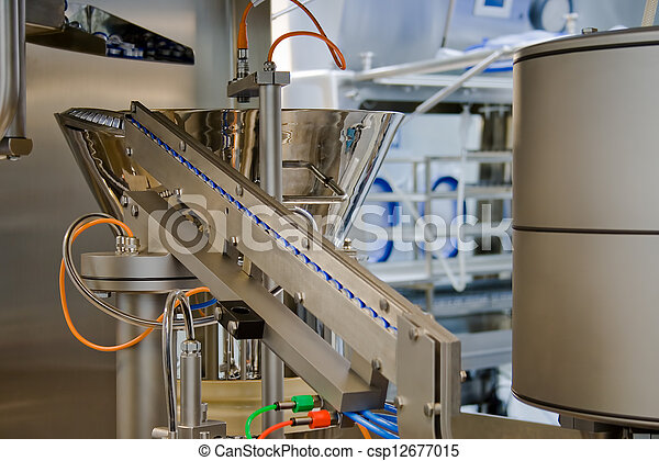 Production of medicines, part of a closing machine - csp12677015