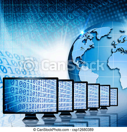 Global communications and internet. Abstract technology backgrounds - csp12680389
