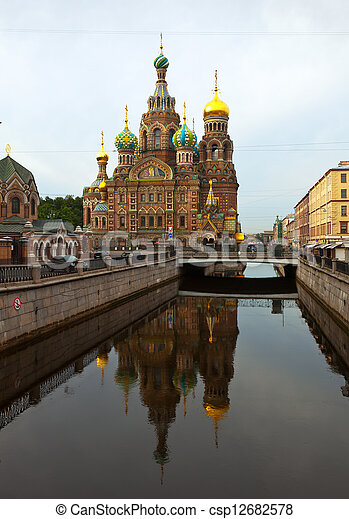 Church of the Savior on Blood in summer - csp12682578