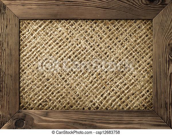 illustrations de cadre bois vieux bois cadre burlap mat riel csp12683758. Black Bedroom Furniture Sets. Home Design Ideas