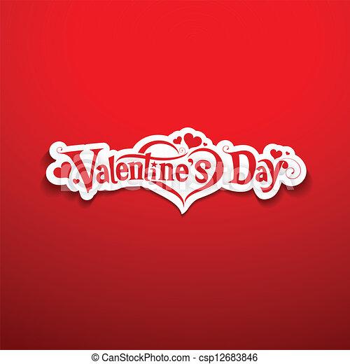 Valentine's Day lettering design - csp12683846