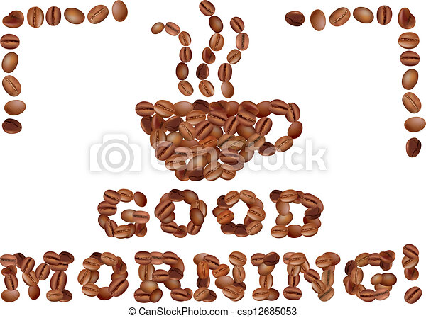 Good morning clipart good morning with coffee