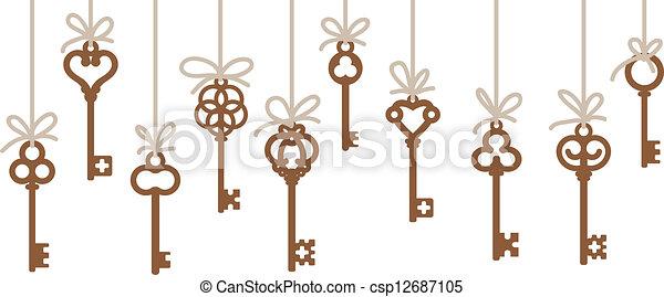 vector clipart of antique skeleton keys hanging antique antique clip art images antique clip art images