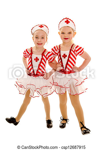 Stock Photography of Young Tap Dancing Nurse Buddies - Two ...