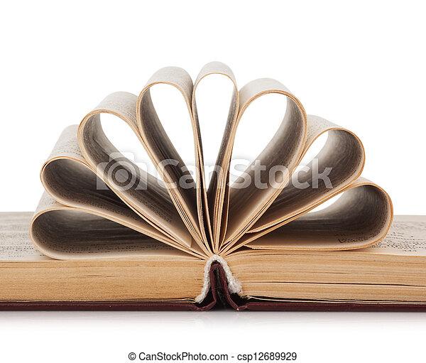Opened book - csp12689929