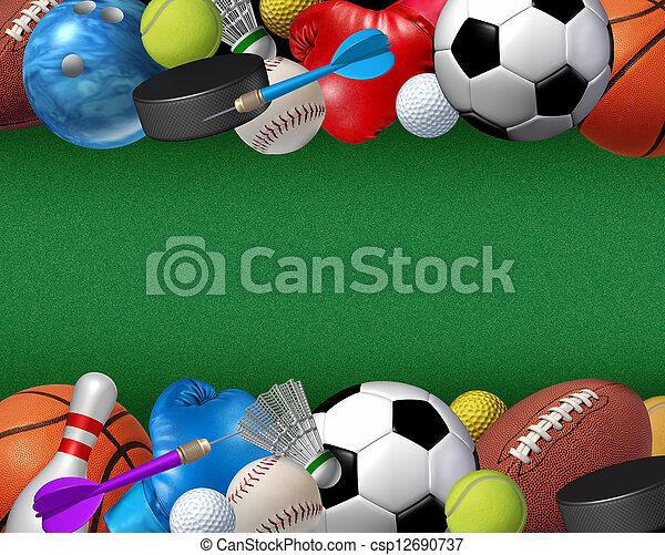 Sport And Activities Border - csp12690737