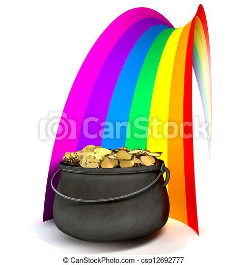 regenbogen topf gold