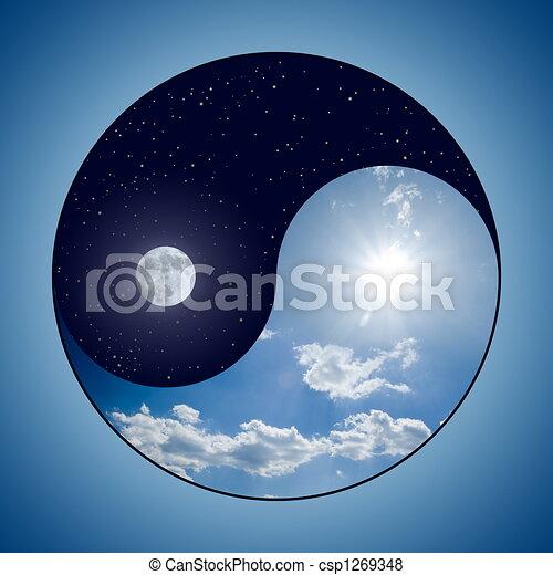 Yin & Yang - Day & Night - csp1269348