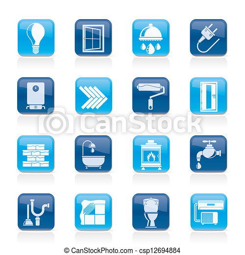 Construction and renovation icons - csp12694884