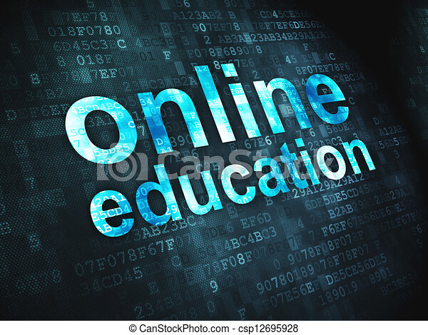 Education concept: Online Education on digital background - csp12695928