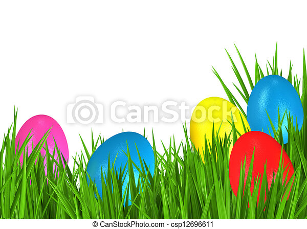Greeting card for Easter - csp12696611