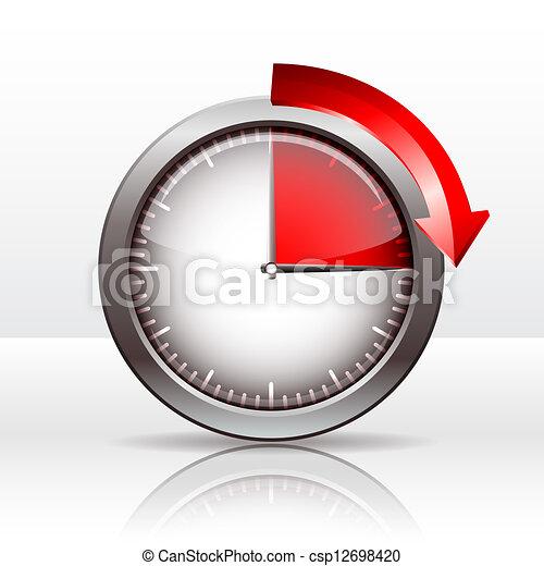 Illustration vecteur de minuteur horloge 15 minutes - Minuteur 7 minutes ...